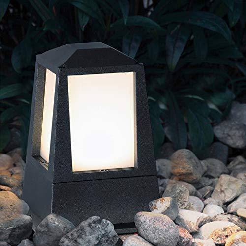 Lámpara de jardín LED europea antigua, resistente al agua, iluminación de jardín al aire libre, para patios, patios, pilares, caminos, stigma