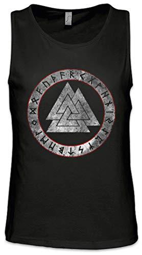Urban Backwoods Valknut Runes Herren Männer Tank Top Training Shirt Schwarz Größe 4XL