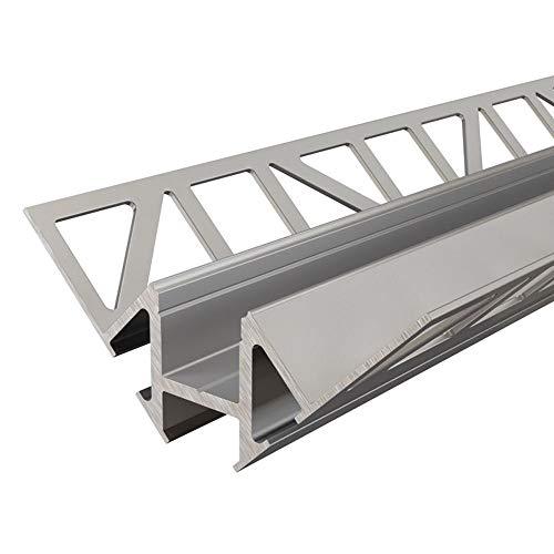 Deko-Light, carrelage de profil d'angle intérieur EV de 01–12 pour 12–13,3 mm pour bandes LED, longueur?: 250 cm, argent