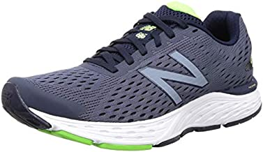 New Balance Men's M680V6 Running Shoe, Pigment/RGB Green, 9 4E US