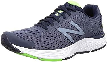 New Balance Men's 680 V6 Cushioning Running Shoe, Pigment/RGB Green, 13