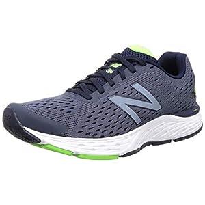 New Balance Men's 680 V6 Cushioning Running Shoe, Pigment/RGB Green, 11