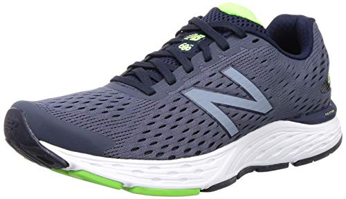 New Balance Men's 680v6 Cushioning Running Shoe, Pigment/RGB Green, 11.5 4E US