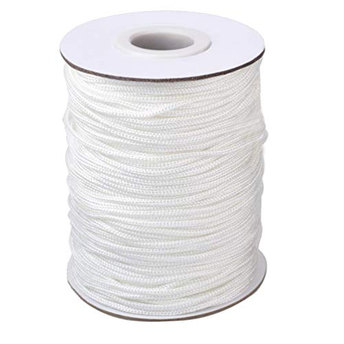 Vtete 1.8 mm × 100 Yards/Roll Braided Lift Shade Cord - White...