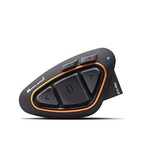 Midland BTX1 Pro Einzel-Motorrad-Gegensprechanlage, Bluetooth, Kopfhörer mit Geräuschunterdrückung, Pilotenkommunikation, Beifahrer - 1 Kopfhörer