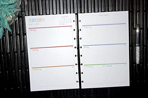 2020   2021   2022   2023   Weekly Dated Planner Inserts Refills   Discbound   8 disc   8.5' x 5.5' (A5)   Monday Start Date   The Doodles Collection   LMN Creates