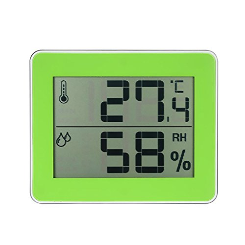 MagiDeal Mini Thermomètre Hygromètre Intérieur Digital avec Ecran LCD - Vert