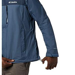 Columbia Men's Pouration Waterproof Jacket, Dark Mountain, Collegiate Navy, X-Large