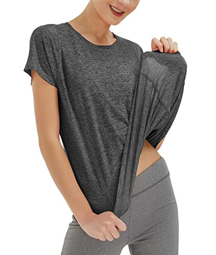 SPECIALMAGIC Women's Sports T-Shirt Basic Yoga Top Short Sleeve Workout...