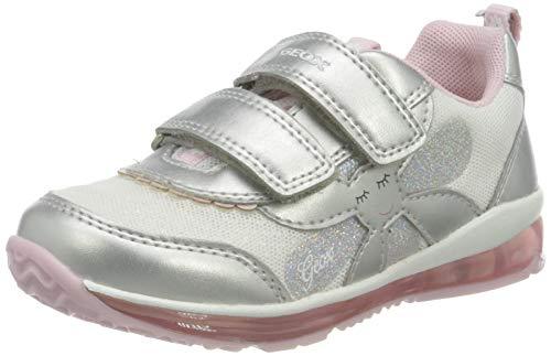 Geox B Todo Girl A, Scarpe da Ginnastica Bimba 0-24, Silver/Pink, 25 EU