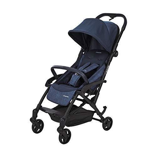 Maxi Cosi Laika Baby-Kinderwagen, ultra-kompakter und federleichter Buggy von der Geburt an, einfacher Faltmechanismus, 0 Monate - 3,5 Jahre, 0 - 15 kg, nomad blue/blau