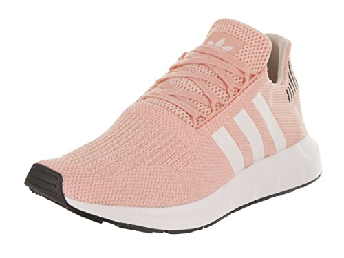 adidas Originals Women's Swift Run Sneaker, ice Pink/White/Black, 9.5 M US