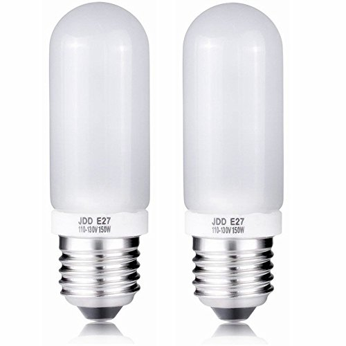 2X 150W Modeling Lamp Bulbs, 110V-130V Frosted Replacement Light Bulb for Photo Studio Strobe