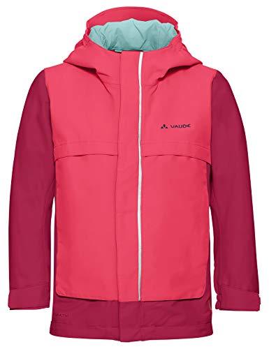VAUDE Kinder Jacke Racoon V, Wetterschutze, bright pink, 122/128, 409749571280