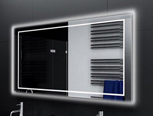 Badspiegel Designo MA4114 mit A++ LED Beleuchtung - (B) 60 cm x (H) 40 cm - Made in Germany - Technik 2019 Badezimmerspiegel Wandspiegel Lichtspiegel TIEFPREIS rundherum beleuchtet Bad Licht Spiegel