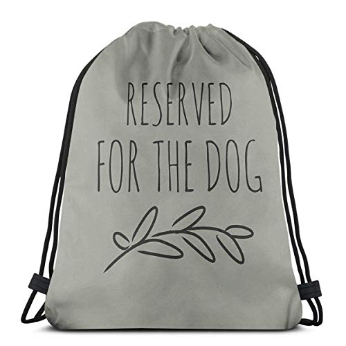 Guduss Shoulder Drawstring Bag Reserved for The Dog Backpack Sport Bag String Bags School Rucksack Gym Travel Pouch Lightweight
