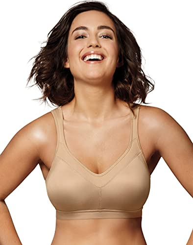 Playtex Women's 18 Hour Active Breathable Comfort Wireless Bra US4159, Nude, 44D