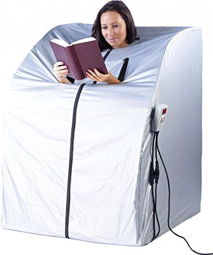newgen medicals Mini Infrarotkabine: Tragbare Infrarot-Sauna V2 mit 2 Heizern, 1600 Watt (Mini Sauna für Balkon) - 6