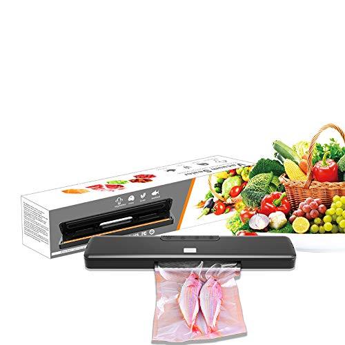 ONLYXKZ Vakuumiergerät, Automatische Lebensmittel Vakuumierer Maschinen, Einbau-Cutter-Und Luftansaugschlauch Für Starter Kit, Dry & Moist Modus, Touch-Digital-Buttons