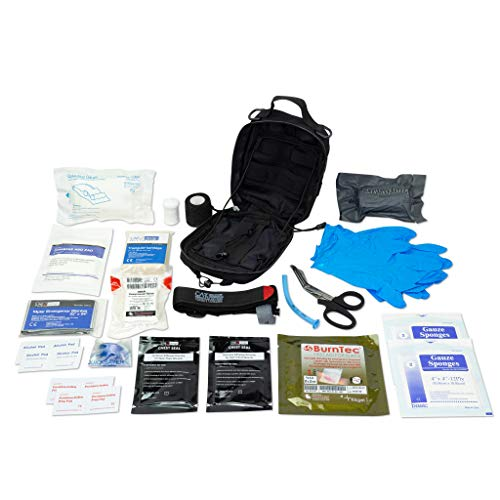 LINE2design Survival Medical Complete Kit - EMS EMT Emergency Response Fully Stocked Trauma Molle Bag - Advanced First Aid Stop Bleeding Supplies with Tourniquet - Outdoor Gear Compact IFAK Pouch