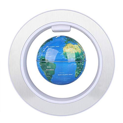 Simlugn Magnetschwebekugel, Floating Globe Magnetschwebekugel mit LED-Lichtdekor(UK Plug-220v)