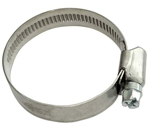 AERZETIX: 5 x Schlauchschelle mit Schrauben 32 – 50 mm 12 mm für Rohr Garten/Auto aus verchromtem Stahl DIN 3017 C42887