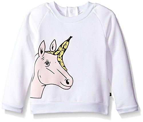 Electrik Kidz - Unicornio para niña, Blanco, 2-3T