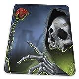 Rose Reaper Skeleton Schädel-Knochen-Themed Büro Gaming Mouse Pad Gamer Computer-Zubehör Kühlen Mat Kleine für Mädchen-Jungen-Kind Frauen Männer Wohnkultur Merchandis Artikel