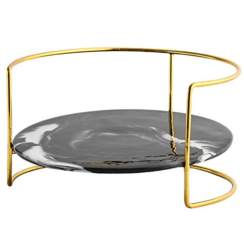 Lxxiulirzeu Nordischen Stil Keramik Lagertablett Gold-Halter Schmuckständer Platten-Gold Halskette Ring Ohrring-Anzeigen-Behälter-Dekoration Organisieren