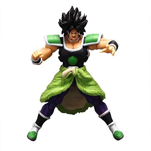 Ntjsmc Dragon Balls Super Saiyan Broly Super Action Black Hair Broly Figura de acción Colección súper móvil Juguete de Regalo 18cm