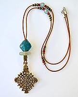 Collar boho étnico para mujer con colgante africano, joyería moderna, regalos únicos para ella