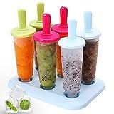 Set di 6 stampi per gelato, in silicone, per ghiaccioli, per ghiaccioli, per bambini e adulti