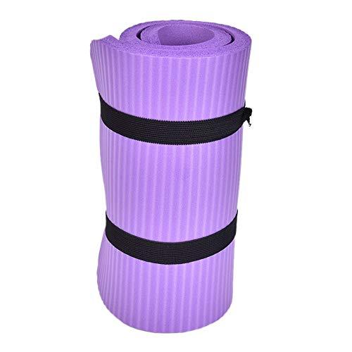 JWGD Gym Douce Pilates Tapis antidérapants Yoga Coussin for Les Genoux Coussin coude Sport Tapis Pliable Tapis intérieur du Corps du bâtiment 60x25x1.5cm Thickess (Couleur : Violet)