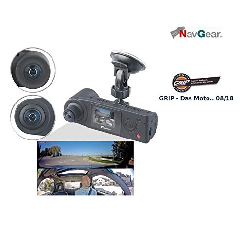 NavGear Auto Überwachungskamera: Full-HD-Dashcam mit 2 Kameras für 360°-Panorama-Sicht, G-Sensor (Dashcam 360 Grad)