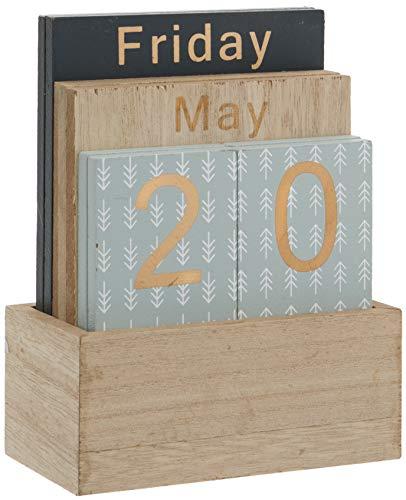 Maturi Wooden Perpetual Calendar with Holder H830