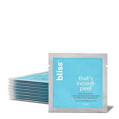 Bliss - That's Incredi-peel Glycolic Resurfacing Pads | Single-Step Pads for Exfoliating & Brightening | Vegan | 15 ct.