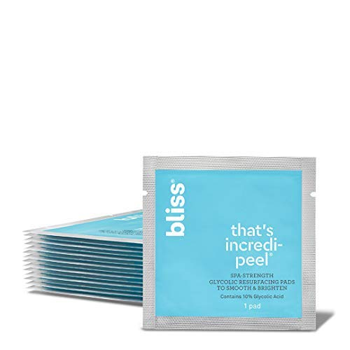 Bliss - That's Incredi-peel Glycolic Resurfacing Pads | Single-Step Pads for Exfoliating & Brightening | Vegan | 15 ct.