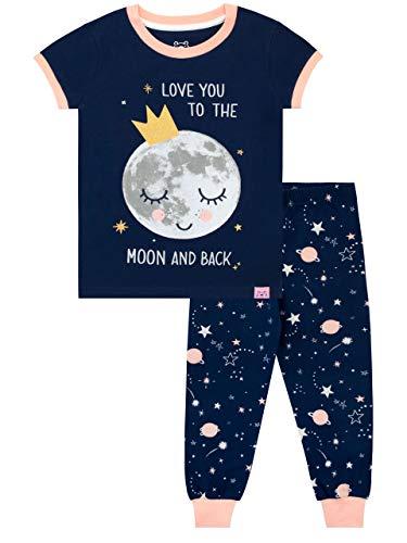 Harry Bear Mädchen Mond Schlafanzug Slim Fit Blau 134