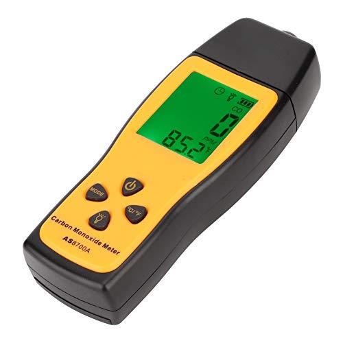 Esenlong Handpräparat Kohlenmonoxid-Messgerät Hochpräzise Co-Gastester Monitor Detektor Messgerät Gelb + Schwarz