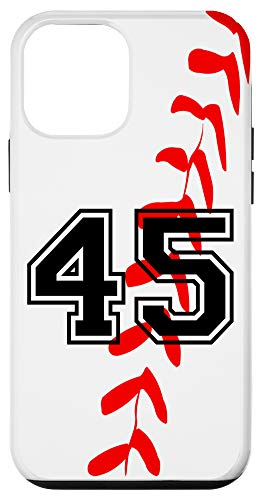 iPhone 12 mini Baseball Jersey Number #45 Forty Five No 45 Game Play Case