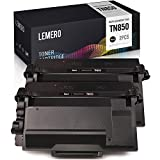 LEMERO Compatible Toner Cartridge Replacement for Brother TN850 TN-850 TN820 TN-820 for HL-L6200DW HL-L5100DN MFC-L5900DW MFC-L6800DW MFC-L5850DW (Black, 2-Pack)