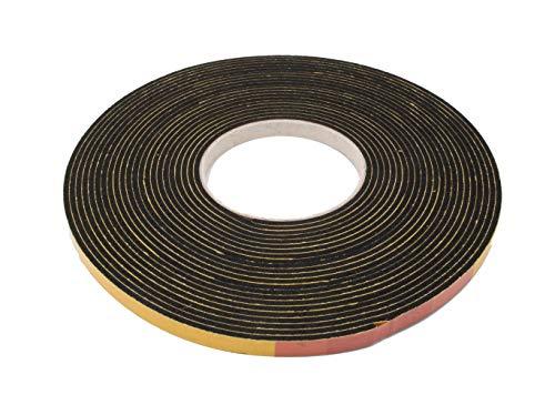 Moosgummi EPDM Dichtung 5 mm (Höhe) x 20 mm (Breite) mm schwarz Dichtband Schalldämmung Türdichtung Gummidichtung Dämpfung Fugenband selbstklebend 10 Meter