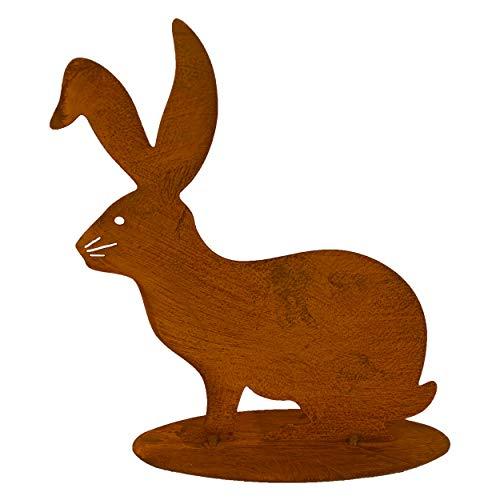 Rostikal Coniglietto pasquale in metallo, 25 cm, decorazione primaverile pasquale, decorazione da giardino