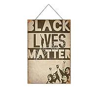 ブラックライブ(5)木製のリストプラーク木の看板ぶら下げ木製絵画パーソナライズされた広告ヴィンテージウォールサイン装飾ポスターアートサイン