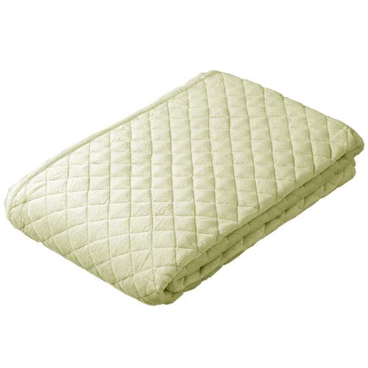巧みなピック慢な西川リビング 綿マイヤー 敷きパッド ダブル 綿100% ウォッシャブル ベッドパッド 春 秋 冬 暖か 7619 オリーブ[50][91616] ダブル