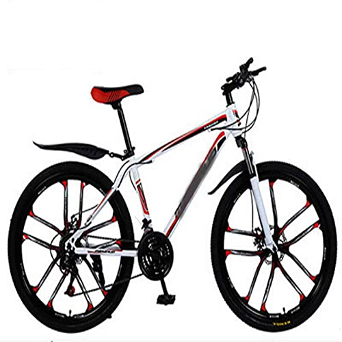 WXXMZY Lightweight 24-speed, 27-speed Mountain Bikes, Strong Aluminum Frame, Cross-country Bikes, Carbon Fiber Male And Female Variable Speed Bikes (Color : B, Inches : 24 inches)