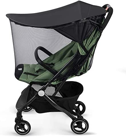 YLYYCC Baby Stroller Widen Sun Shade Awning Oval Canopy Bed net Style Anti UV Resistance Rain product image