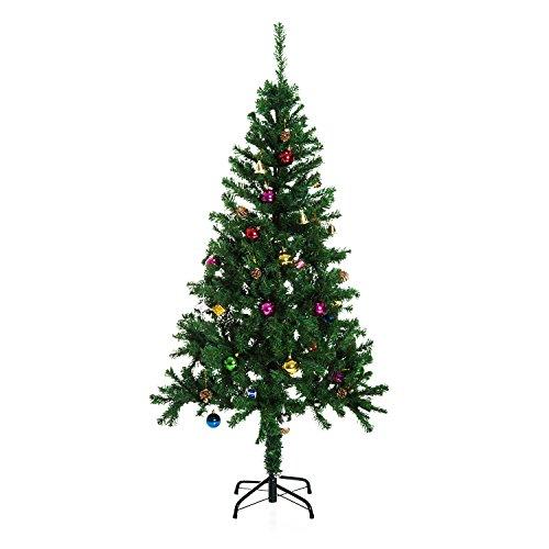 HOMCOM Árbol de Navidad 150cm Artificial Pino con Adornos D