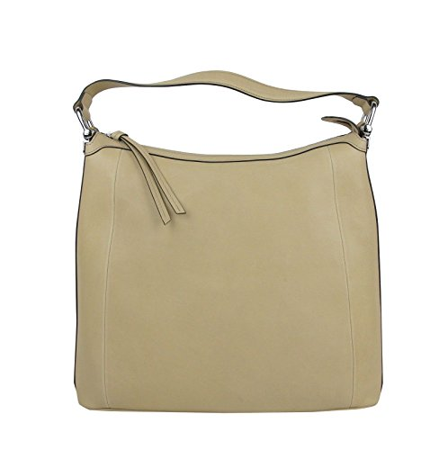 Fashion Shopping Gucci Women's Bamboo Beige Soft Leather Zip Top Handbag with Detail 355774
