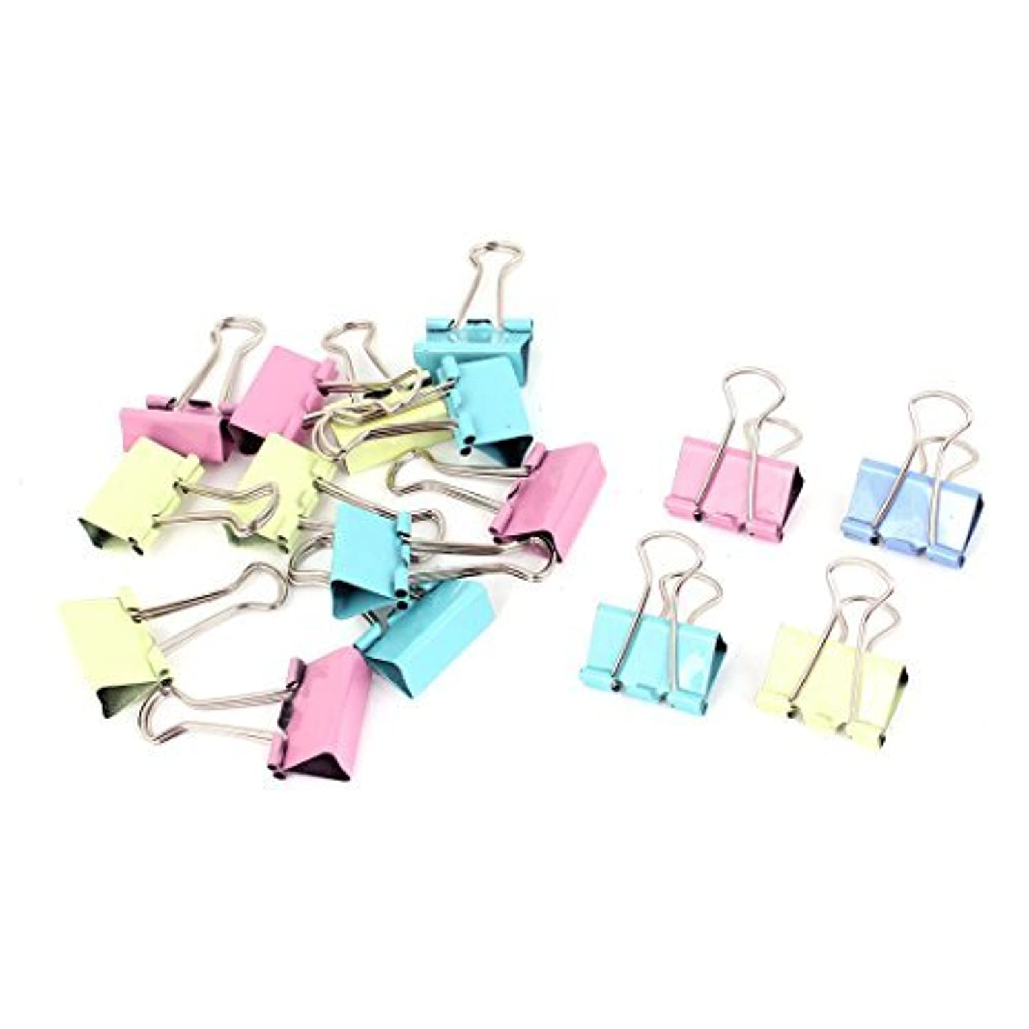 DealMux Metal School Office Test Paper File Binder Clip 16pcs Multicolor